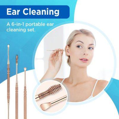 6 In 1 Portable Ear Cleaning Set,Ear Pick,Ear cleaners