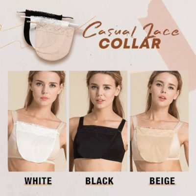 Casual Lace Collar,Snap-On Bra,lace collar shirt,rbg lace collar,Lace Collar
