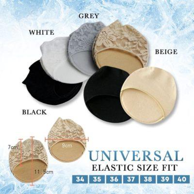 Ice Silk Lace Sock Pad