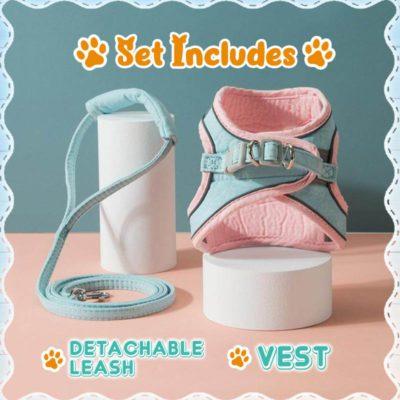 Luminous Escape-Proof Cat Vest Harness Set