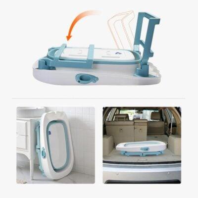 Foldable Baby Bath Tub Space Saver