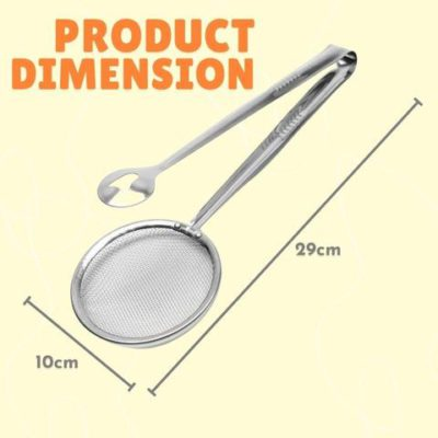 Stainless Steel 2-in-1 Fried Food Clip