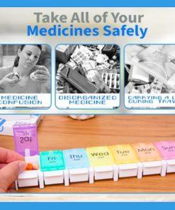 Rainbow Weekly Pill Organizer,Weekly Pill Organizer,Pill Organizer,Rainbow Weekly Pill,Weekly Pill