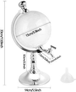 Globe Alcohol Dispenser,Crystal Globe,Globe Drink Dispenser,Alcohol Dispenser,Drink Dispenser