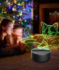 Cat Night Light Lamp,Night Light Lamp,Light Lamp,3D Night Lamp,Cat Night Light