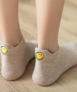 Heel Socks,Cute Smiling Heel Socks