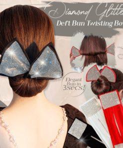 Diamond Glitter Deft Bun Twisting Bow,Diamond Glitter,Deft Bun,Twisting Bow