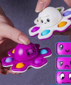 Octopus Change,Change Faces,Octopus Change Faces Spinn,fidget toy,flip octopus